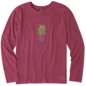 Women's Pineapple Love Long Sleeve Crusher Tee
