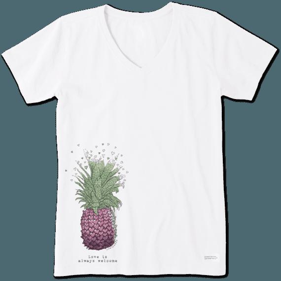 Women's Pineapple Love Crusher Vee