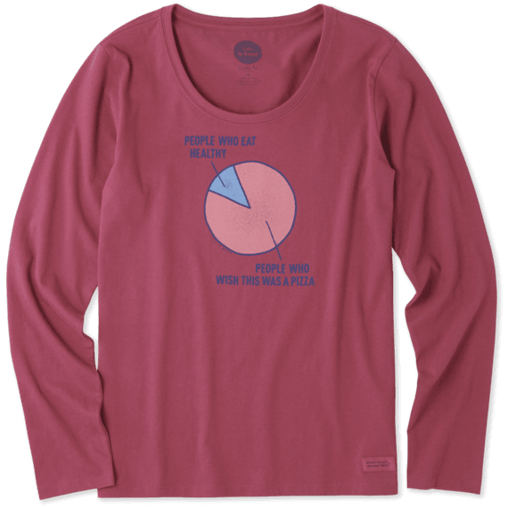 Women's Pizza Wish Long Sleeve Crusher Scoop