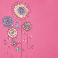 Women's Playful Flowers Smooth Tee