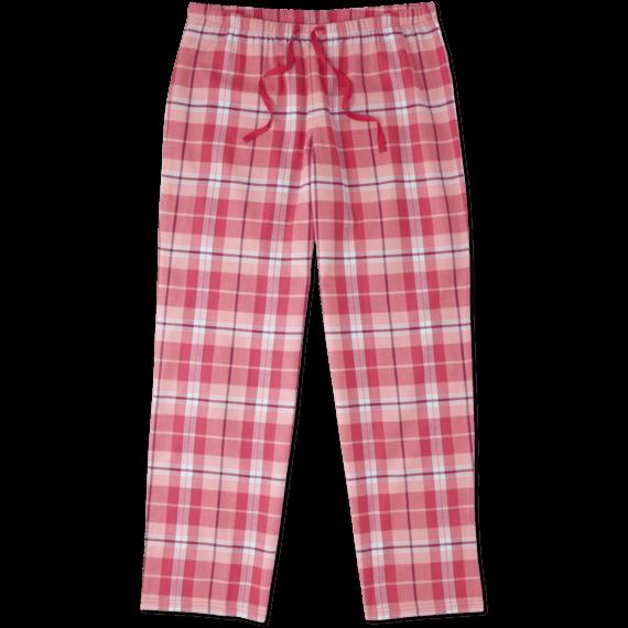 Women's Pop Pink Plaid Classic Sleep Pant