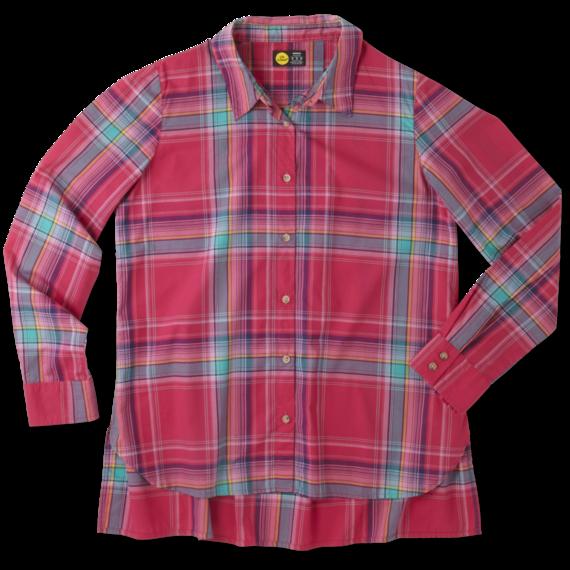 Women's Pop Pink Down Home Plaid Shirt