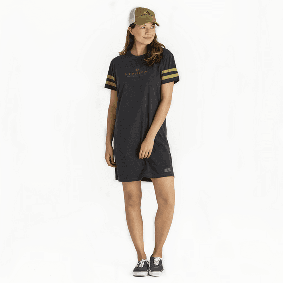 Women's Positive Lifestyle Flag Crusher Tee Dress