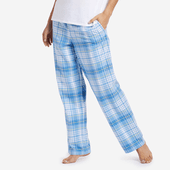 Women's Powder Blue Plaid Sleep Pants