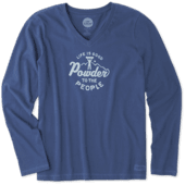Women's Powder To The People Long Sleeve Crusher Vee