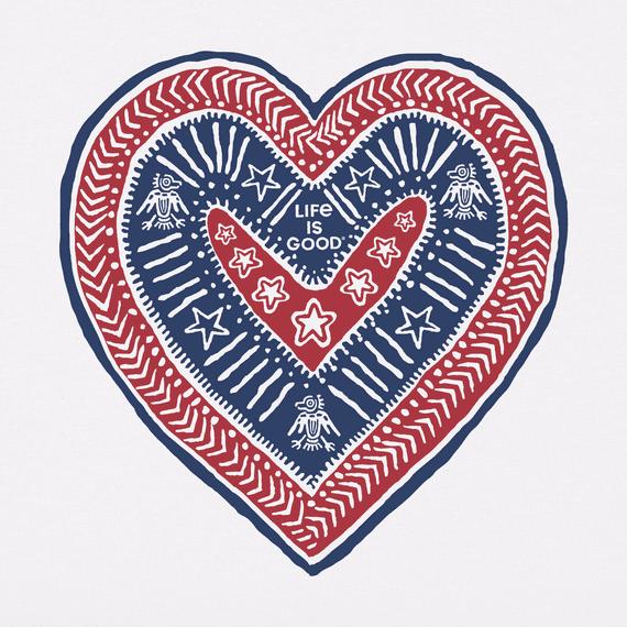 Women's Primal Americana Heart Crusher Tee