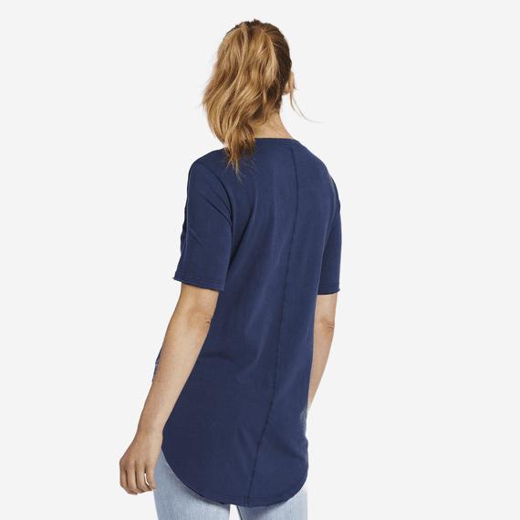 Women's Primal Bird Embroidery Freestyle Wash V-neck Tunic