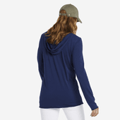 Women's Primal Flower Long Sleeve Hooded Smooth Tee