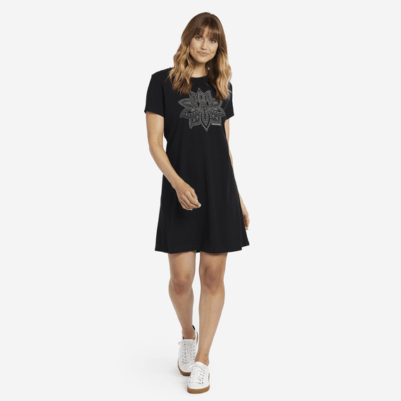 Women's Primal Lotus Smooth Tee Dress