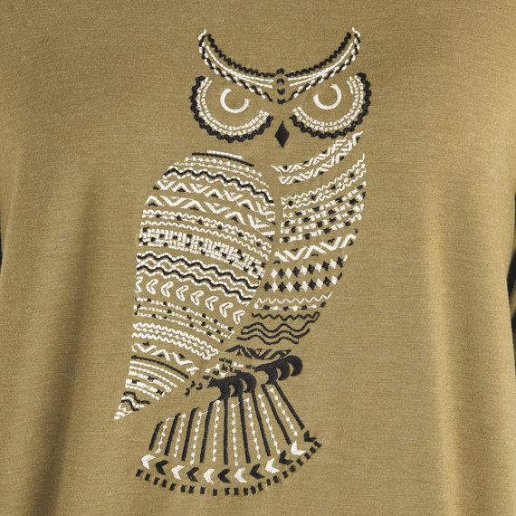 Women's Primal Owl Supreme Blend Scoop Pullover