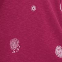 Women's Primal Scattered Flowers Carefree Long Sleeve Pocket Tee