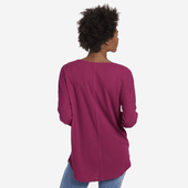 Women's Primal Scattered Flowers Carefree Long Sleeve Pocket Tee