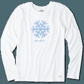 Women's Primal Snowflake Long Sleeve Crusher Tee