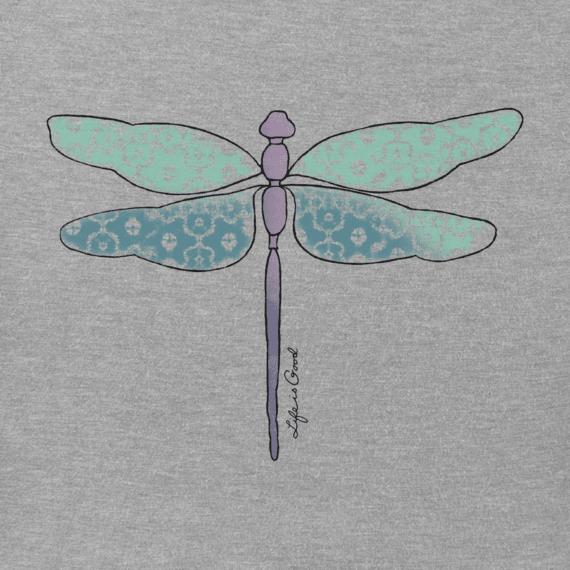 Women's Print Pattern Dragonfly Hooded Sweatshirt