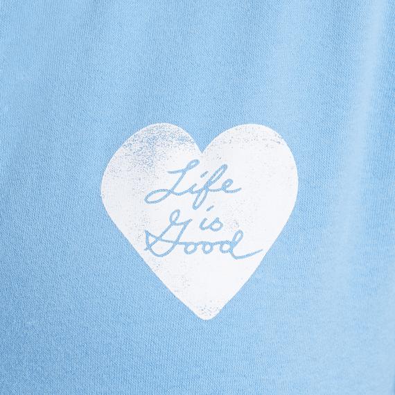 Women's Print Pattern Heart Hooded Sweatshirt