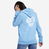 Women's Print Pattern Heart Hooded Sweatshirt