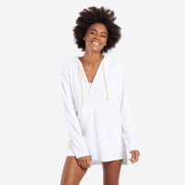 Women's Print Pattern Sun Beach Cover-Up Hoodie