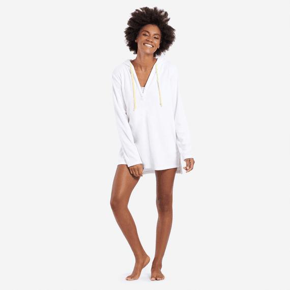 Women's Print Pattern Sun Beach Cover-Up Hoodie