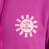 Women's Print Pattern Sun Hooded Sweatshirt