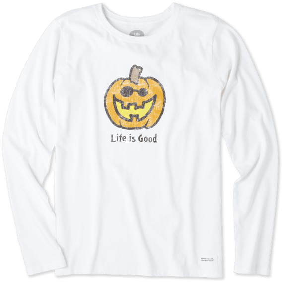 Women's Pumpkin Long Sleeve Crusher Tee