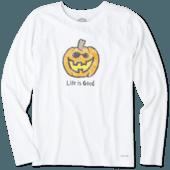 Women's Pumpkin Long Sleeve Crusher Tee