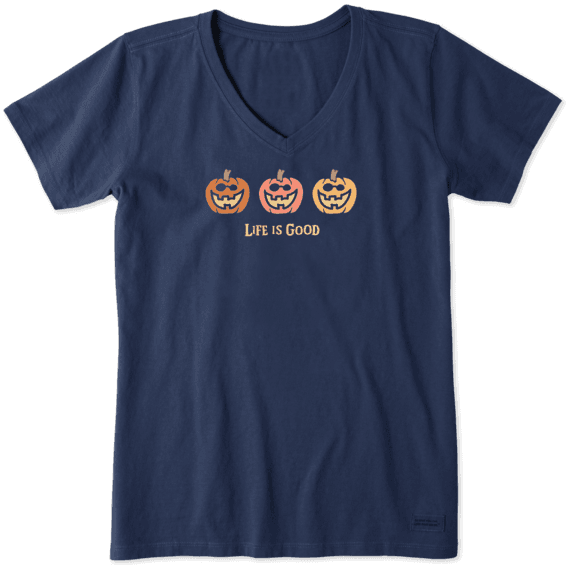 Women's Pumpkin Trio Crusher Vee