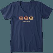 Women's Pumpkin Trio Crusher Vee