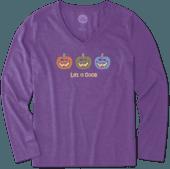 Women's Pumpkin Trio Long Sleeve Cool Vee