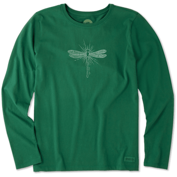 Women's Radiant Dragonfly Long Sleeve Crusher Tee