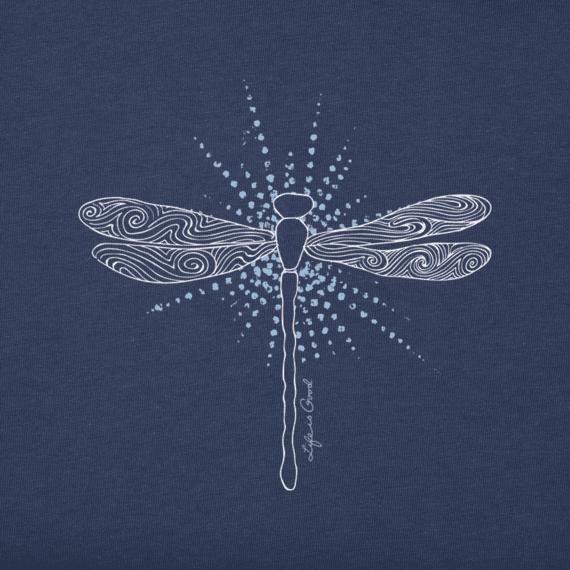 Women's Radiant Dragonfly Long Sleeve Crusher Tee