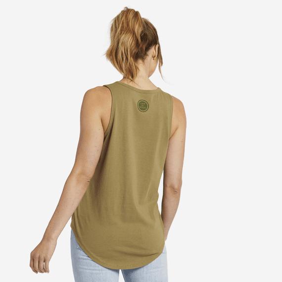Women's Radiate Love Sun Engraved High-Low Crusher Tank