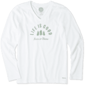 Women's Rain Or Shine Long Sleeve Crusher Vee
