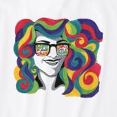 Women's Rainbow Hair Crusher Tee