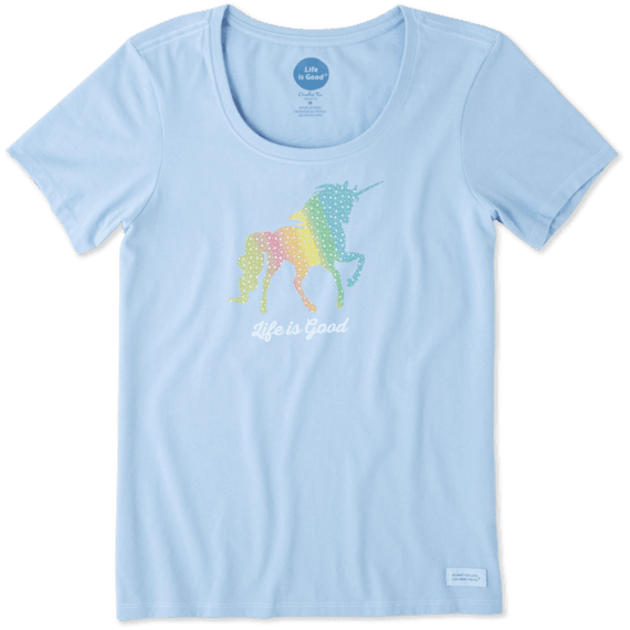 Women's Rainbow Unicorn Crusher Scoop Neck Tee