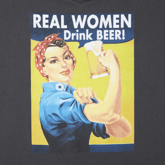 Women's Real Women Drink Beer Smooth Tee