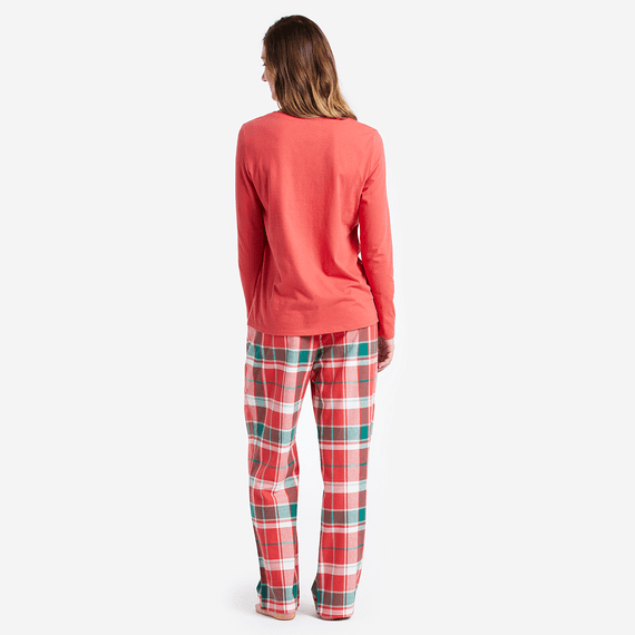Women's Red Plaid Classic Sleep Pants