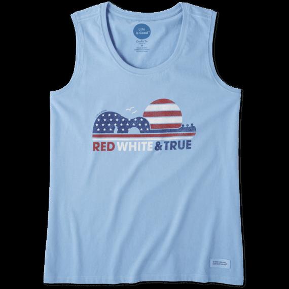 Women's Red White & True Crusher Scoop Tank
