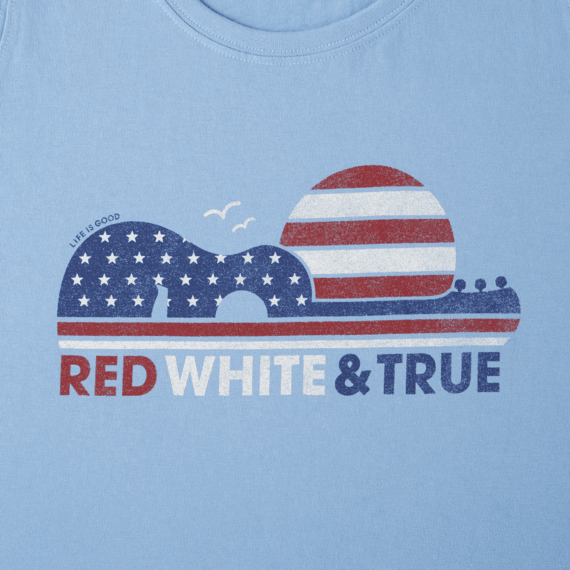 Women's Red White & True Crusher Scoop Tank
