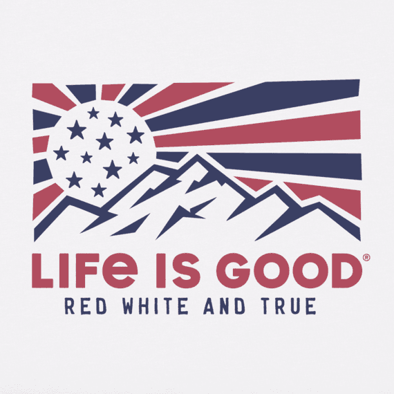 Women's Red White & True Mountains Crusher Vee