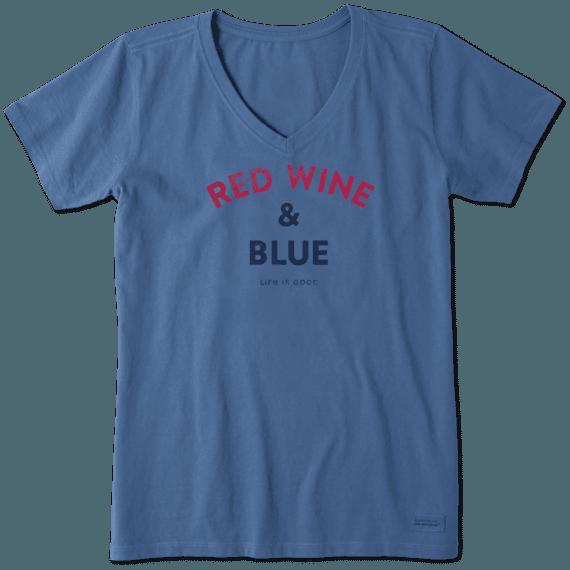 Women's Red Wine & Blue Crusher Vee