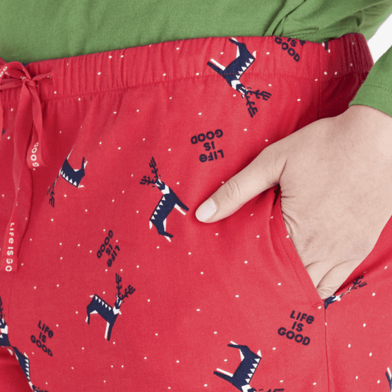 Women's Reindeer Snow LIG Classic Sleep Pant