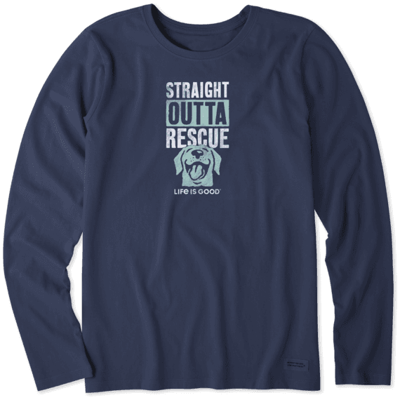 Women's LIG Rescue Dog Long Sleeve Crusher Tee