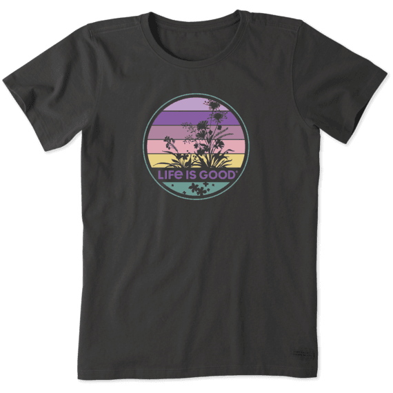 Women's Retro Wildflower Crusher Tee