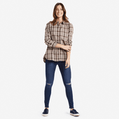 Women's Rich Brown Down Home Plaid Shirt