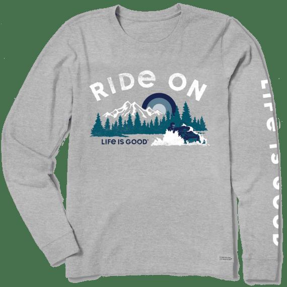 Women's Ride On Snowmobile Long Sleeve Crusher Tee