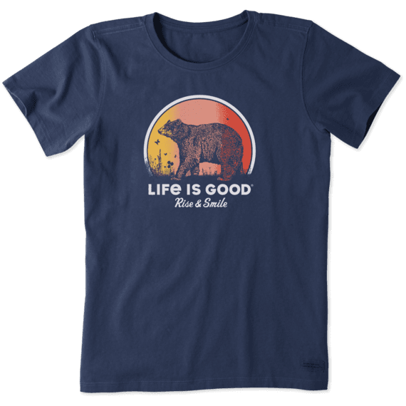 Women's Rise and Smile Bear Crusher Tee