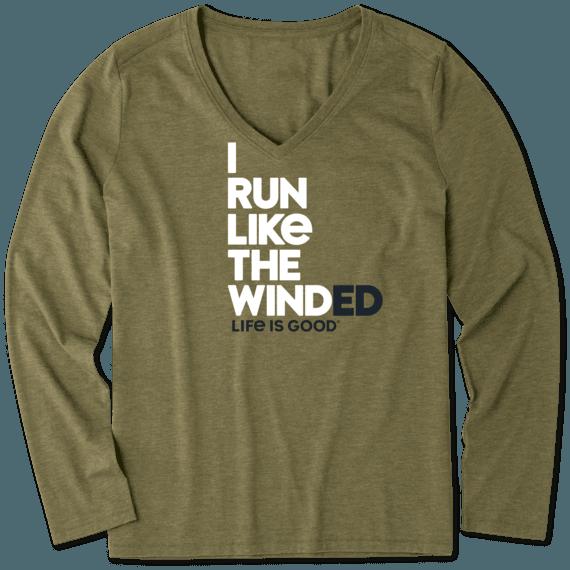 Women's Run Like The Winded Long Sleeve Cool Vee