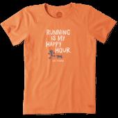 Women's Running Is My Happy Hour Crusher Tee