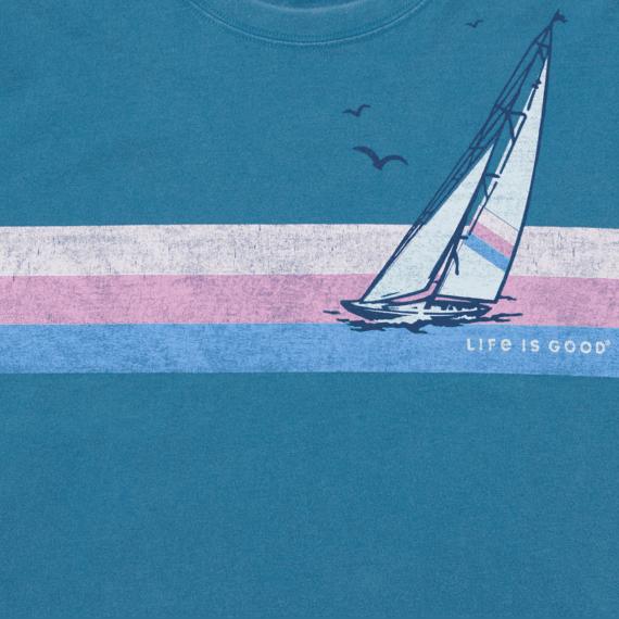 Women's Sail Stripes Boxy Crusher Tee