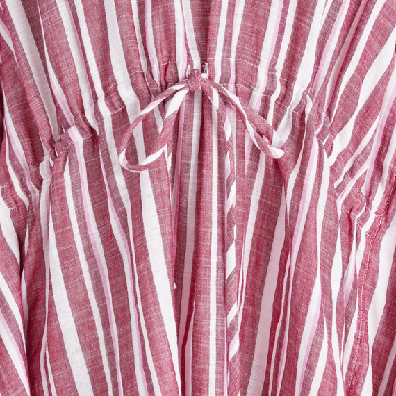 Women's Sangria Red Stripe Summer Breeze Tunic